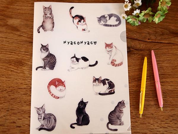 ★チャリティー 猫のクリアファイル A4サイズ