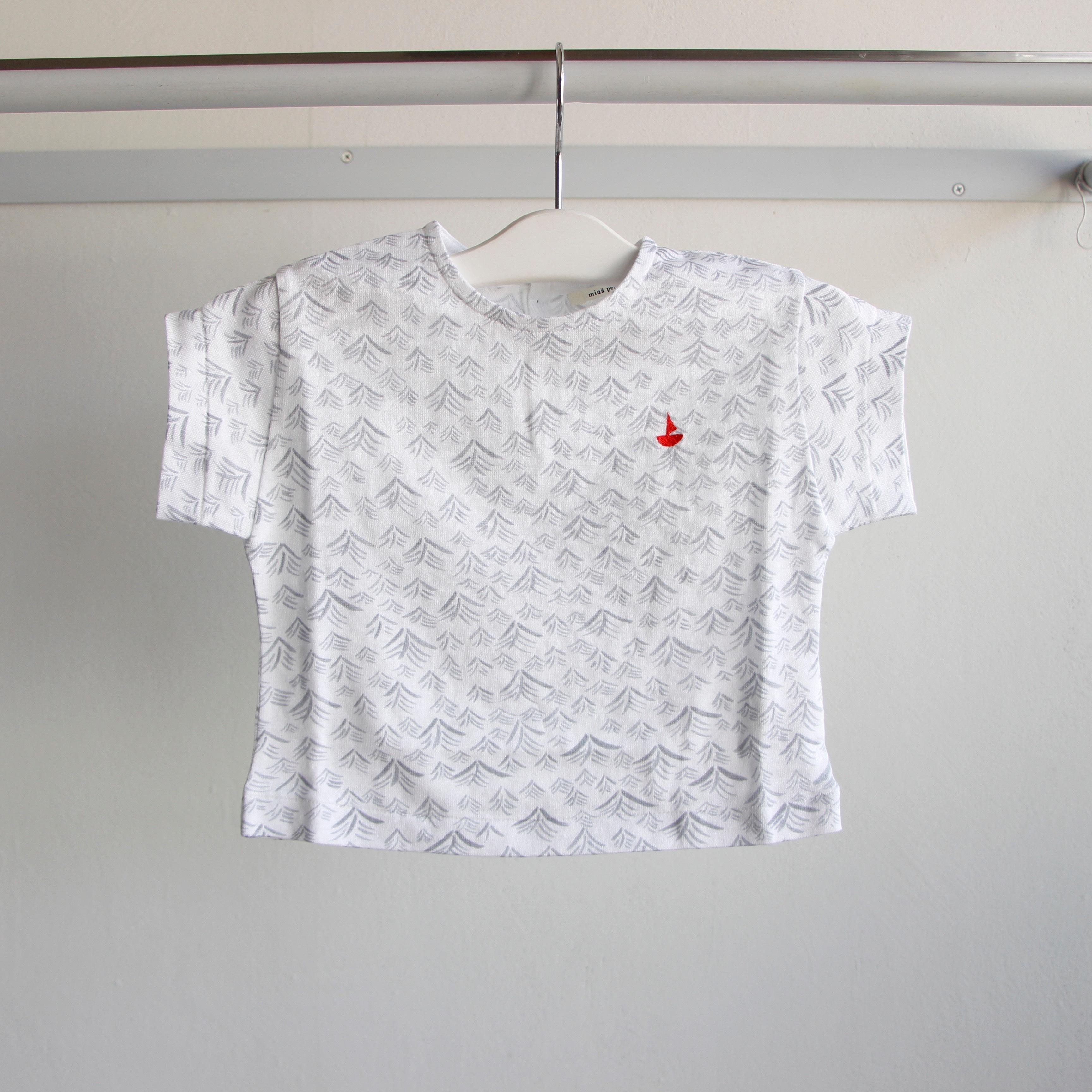 《mina perhonen 2019SS》umi Tシャツ / white / 110-140cm
