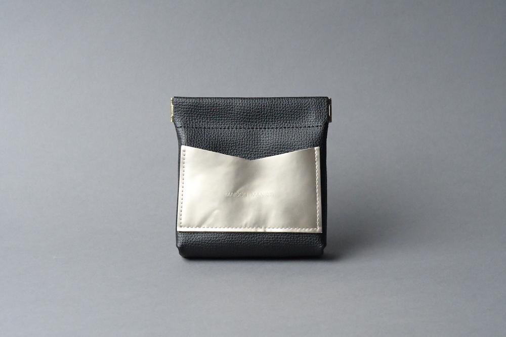 ワンタッチ・コインケース ■ブラック・シャンパンゴールド■ - 画像1