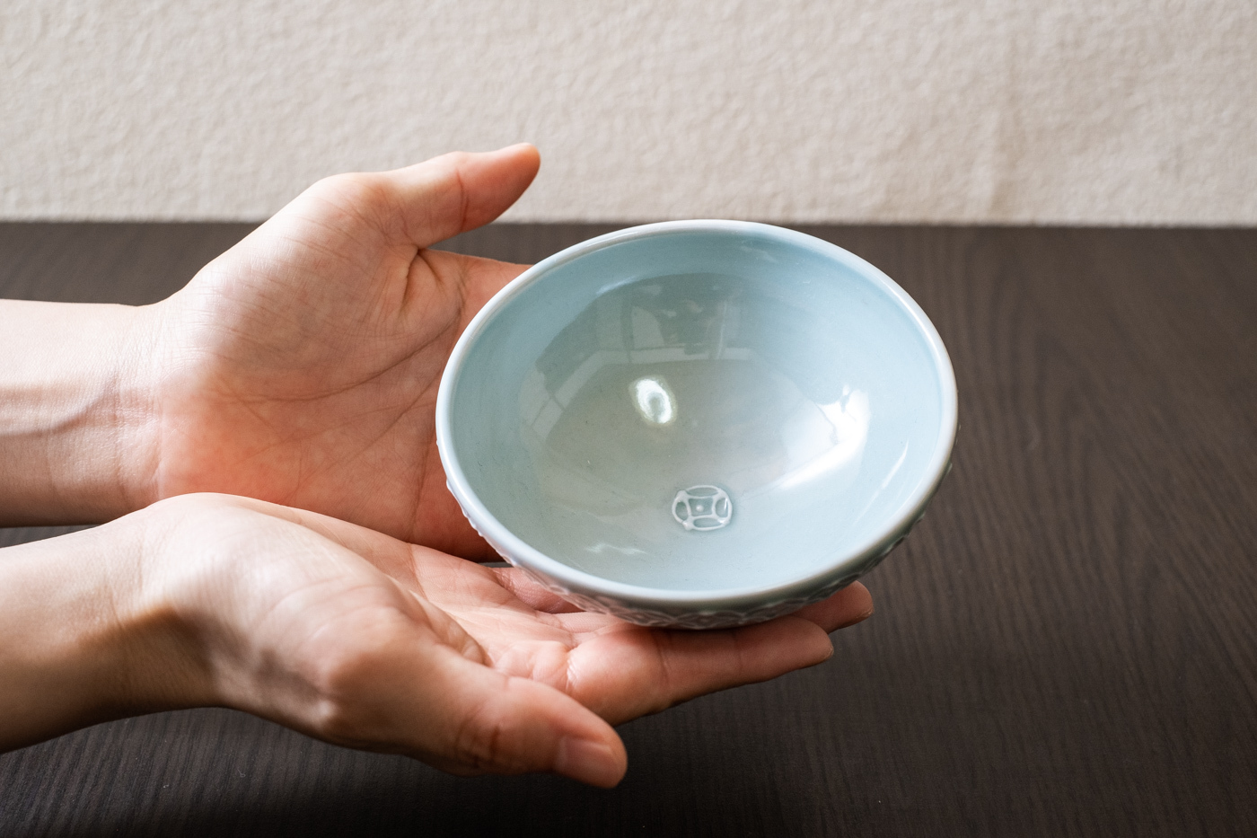 磁器お茶碗【七宝紋/ブルー】
