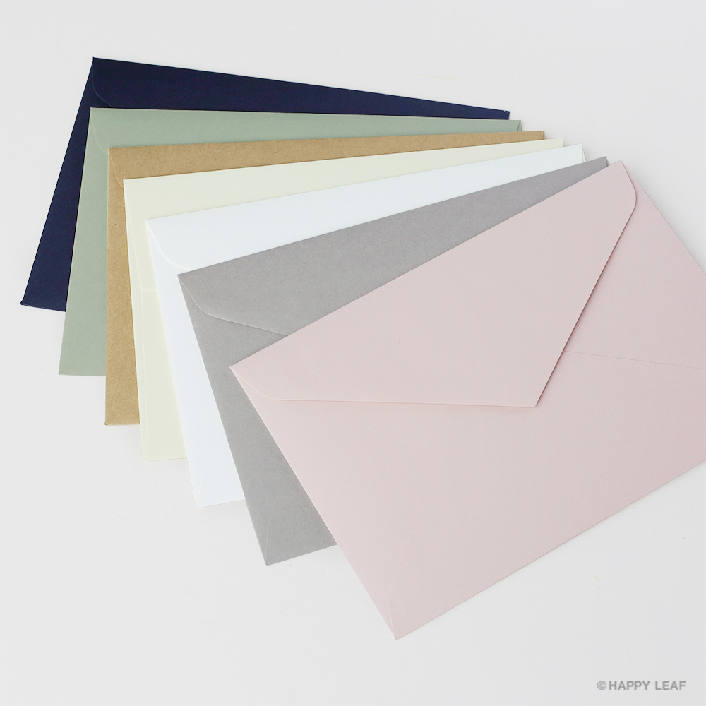 封筒(洋1)7種類お試しサンプルセット・宛名シール付き
