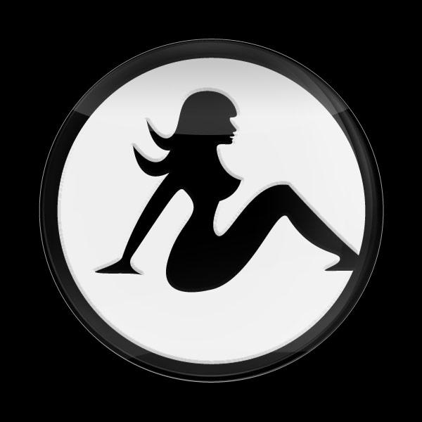 ゴーバッジ(3D)(LC0137 - 3D GIRL WHITE) - 画像1