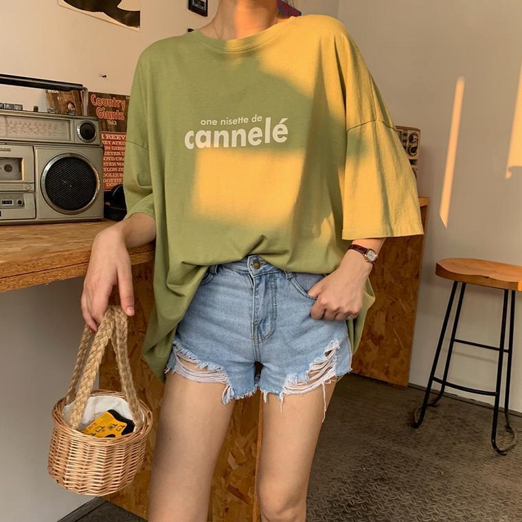 【送料無料】 おしゃれカジュアル♡ ビッグシルエット オーバーサイズ ゆるだぼ ルーズ ロゴ Tシャツ トップス