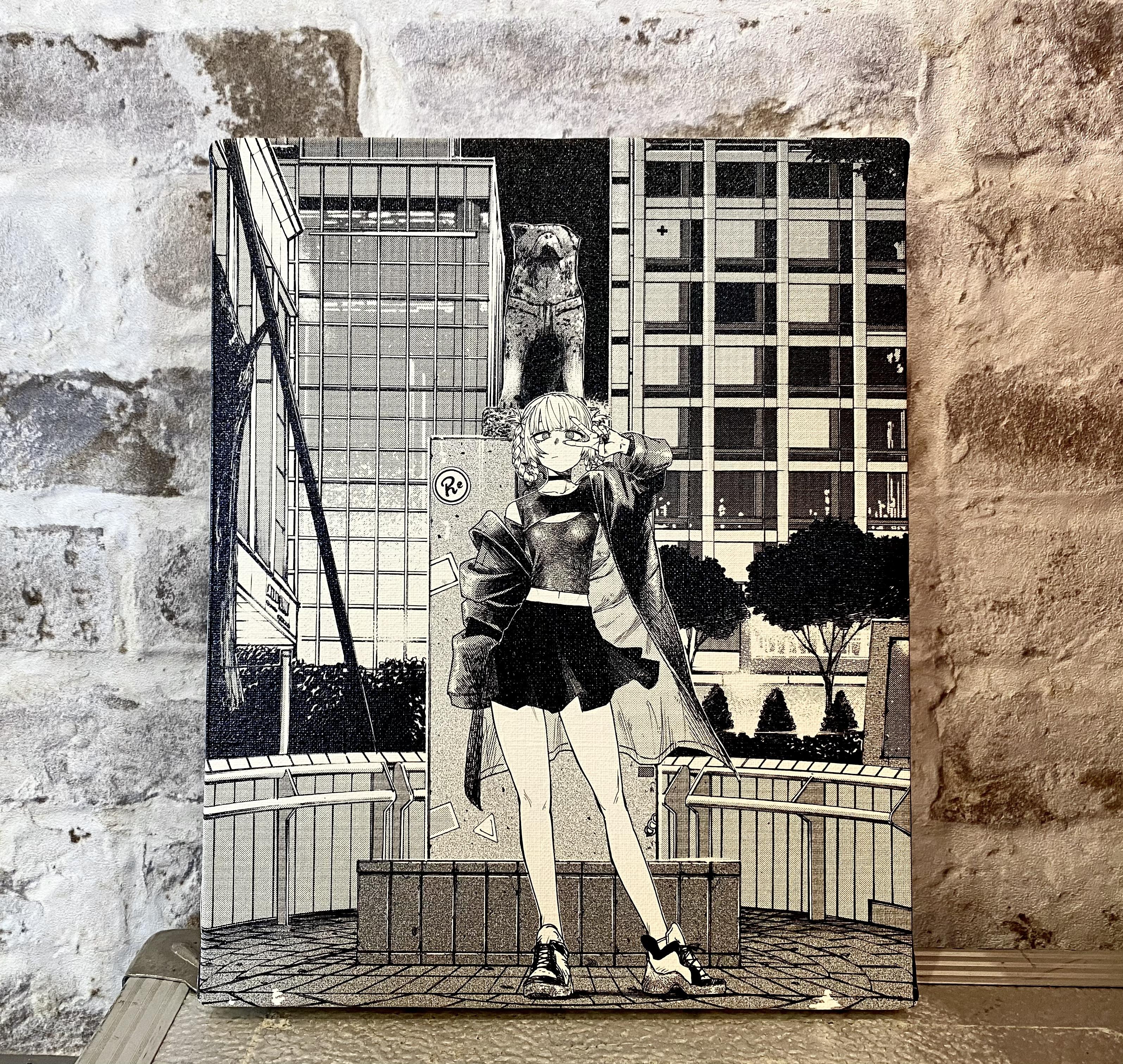 〈よふかしのうた 描き下ろし商品〉NIGHT OUT CITY-SHIBUYA-  F3キャンバスアート