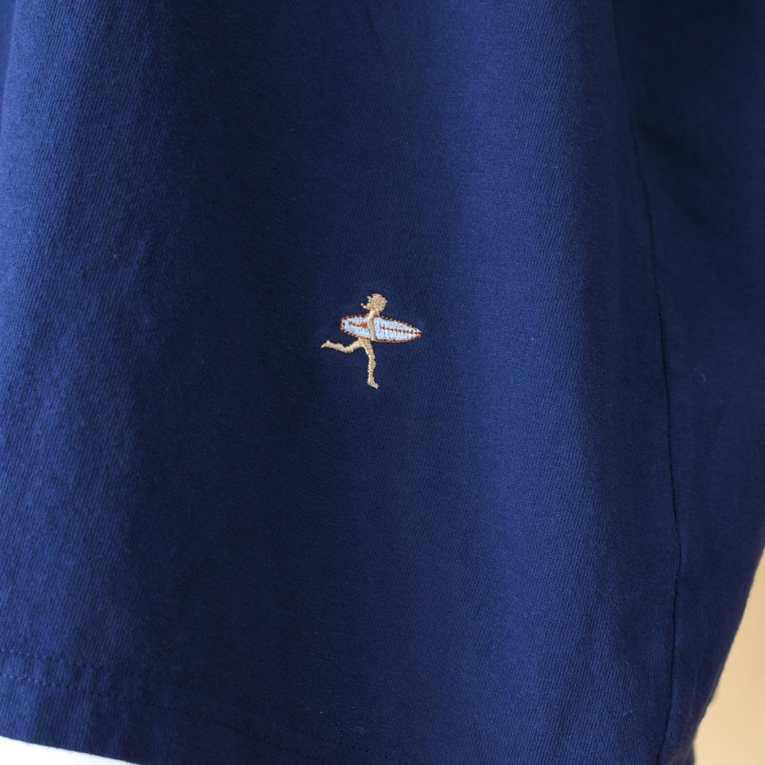 快晴堂 カイセイドウ 海上がりGIRL'S BIG Tシャツ WIND
