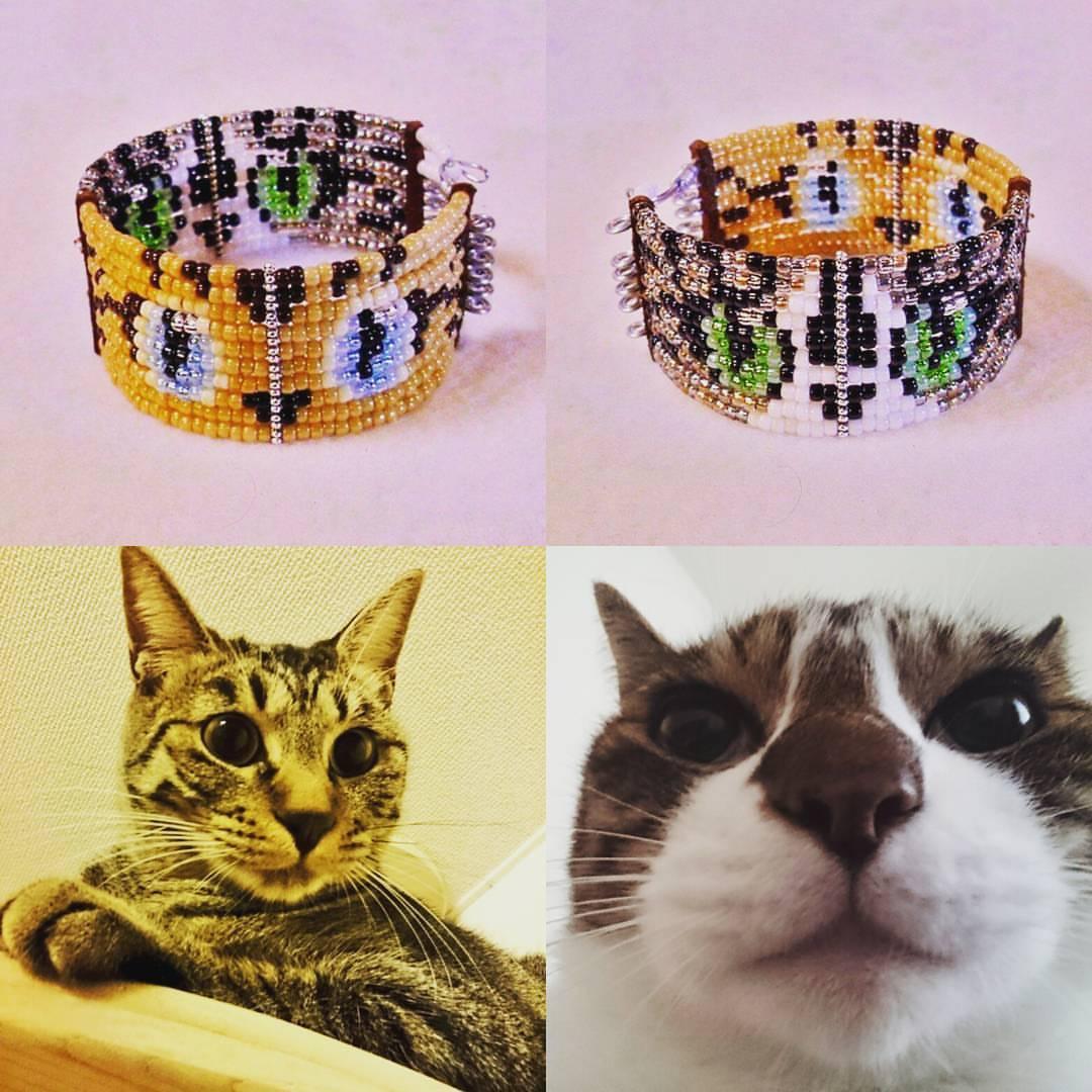 【オーダー】猫ちゃんうでわ