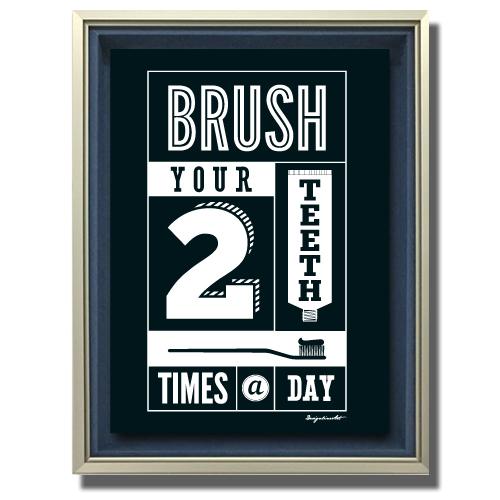 Brush キャンバスプリント(B3サイズ)・立体額入り