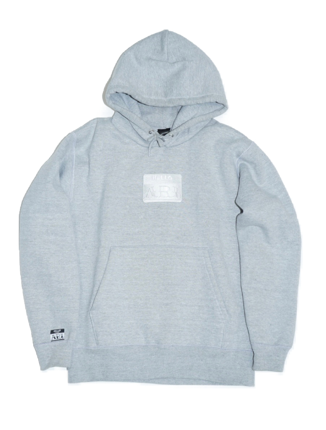 LOGO PATCH HOODIE gray