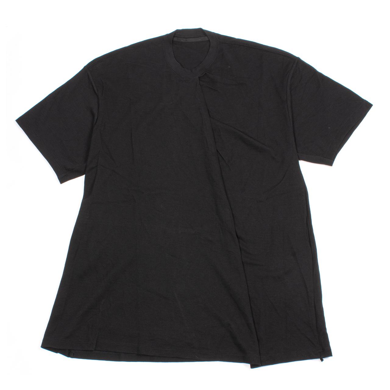 717CUM5-BLACK / タックドカラーTシャツ