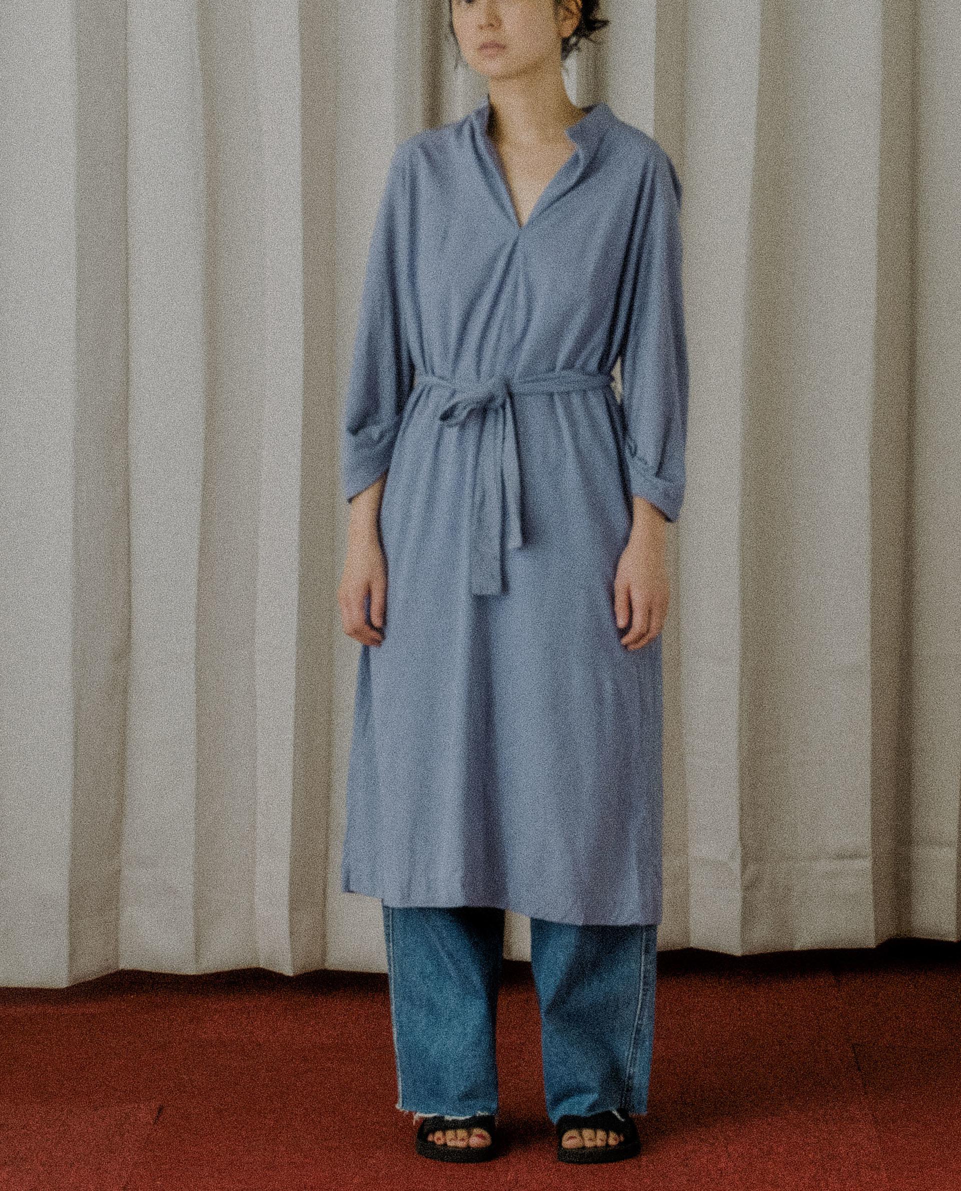 Tops / Vtg 70's Ice Blue Dress. (USA)