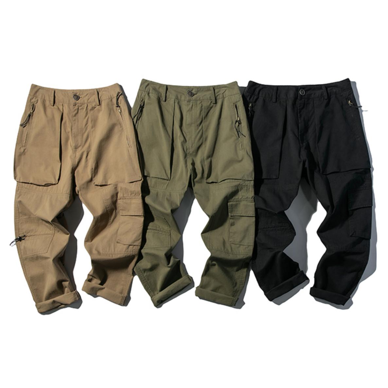 【UNISEX】マルチポケット ジョガーパンツ カーゴパンツ【3colors】UN-575