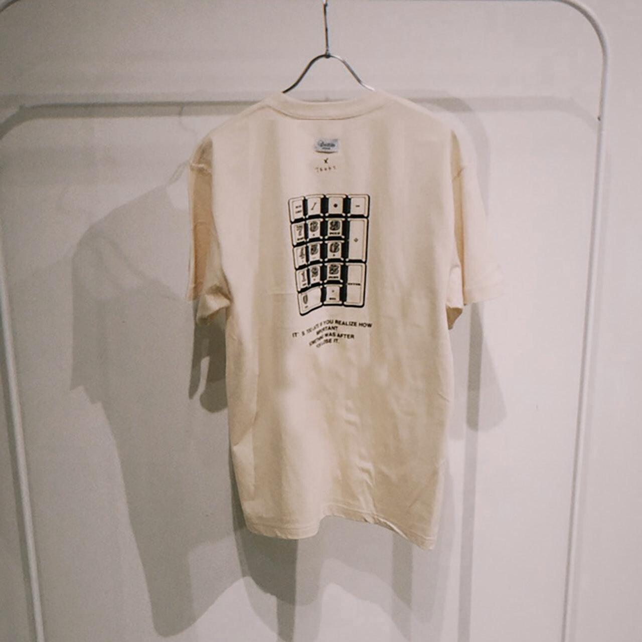 TENKI × A Man Collaboration Tee Natural × Black