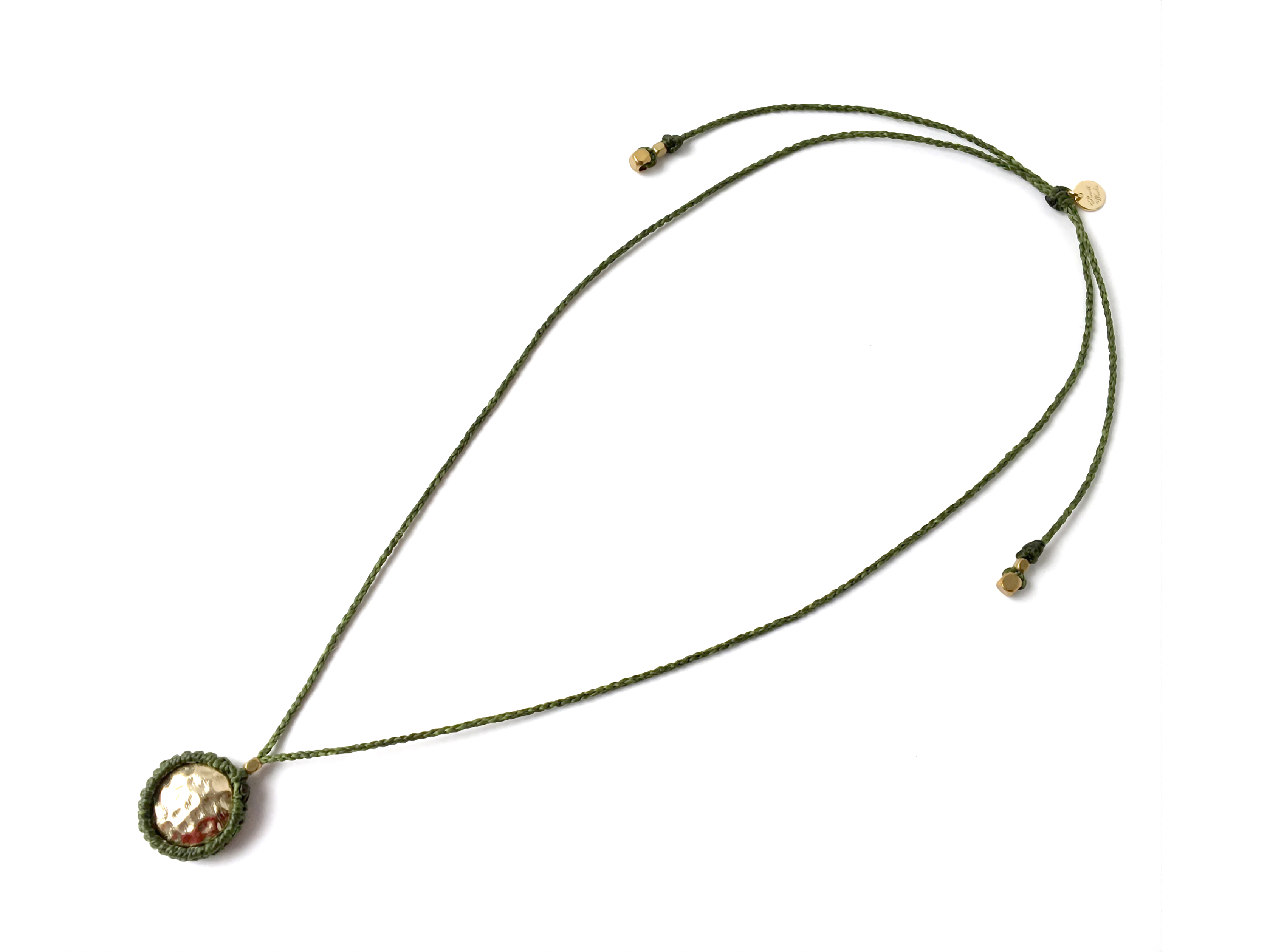 2WAY Wrapped Mettal Necklace/Khaki (Gold/Silver) [ロングネックレス,チョーカー]