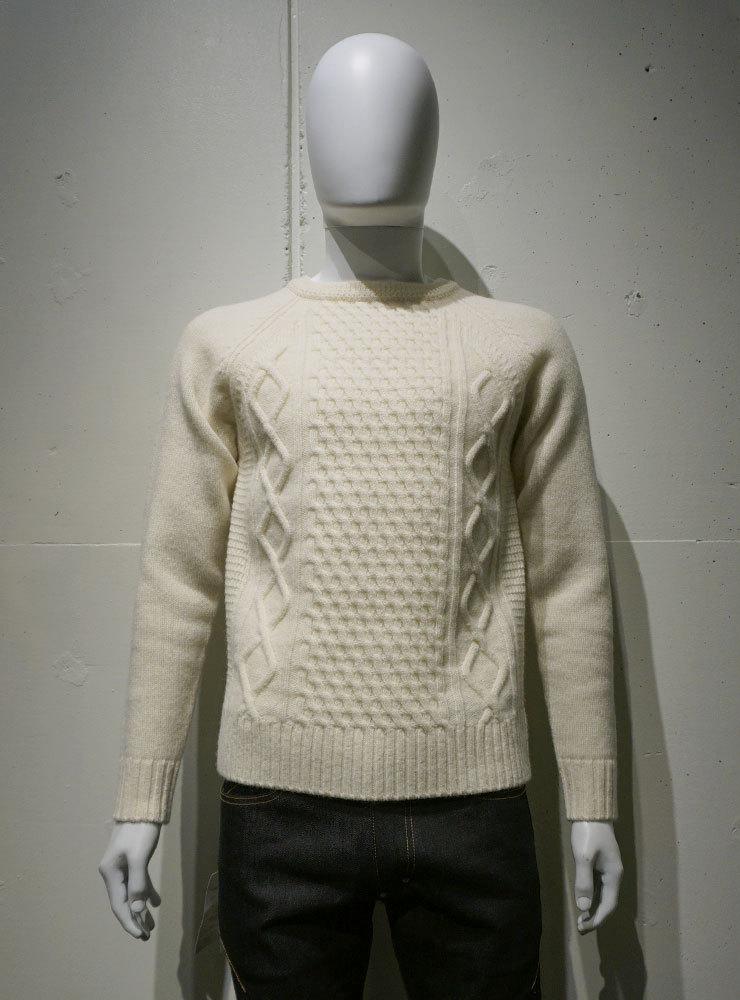 FUJITO Cable Knit Sweater ナチュラル