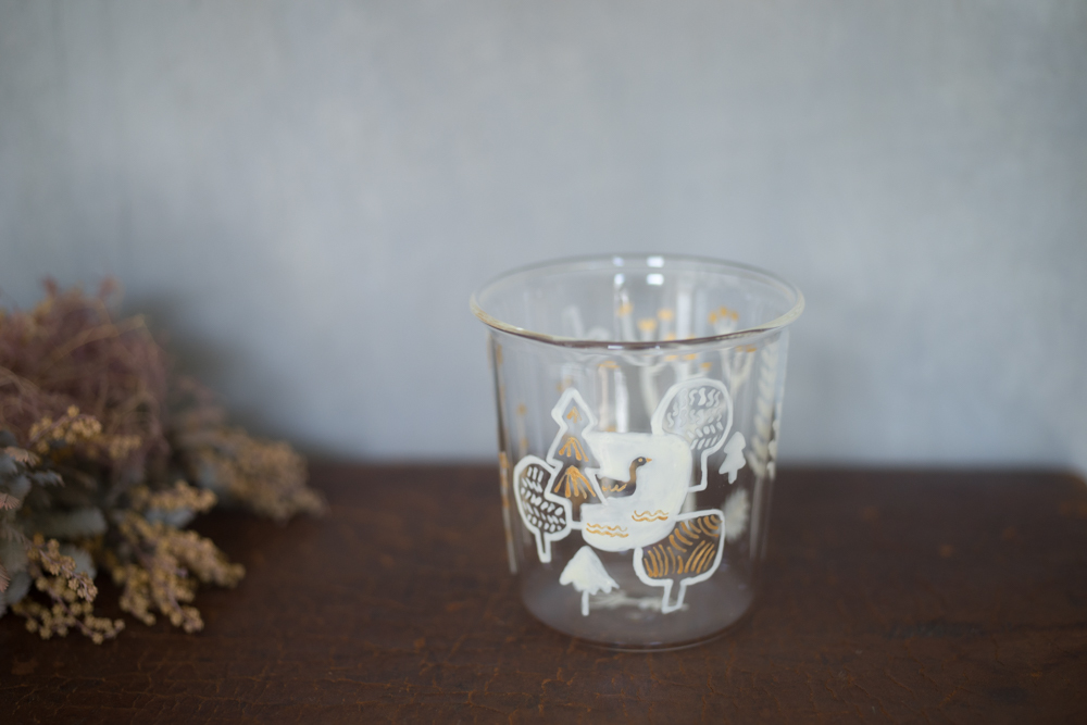 大家三佳 ガラスの器 「湖の白鳥(グラス 250ml)」 【om_0012】