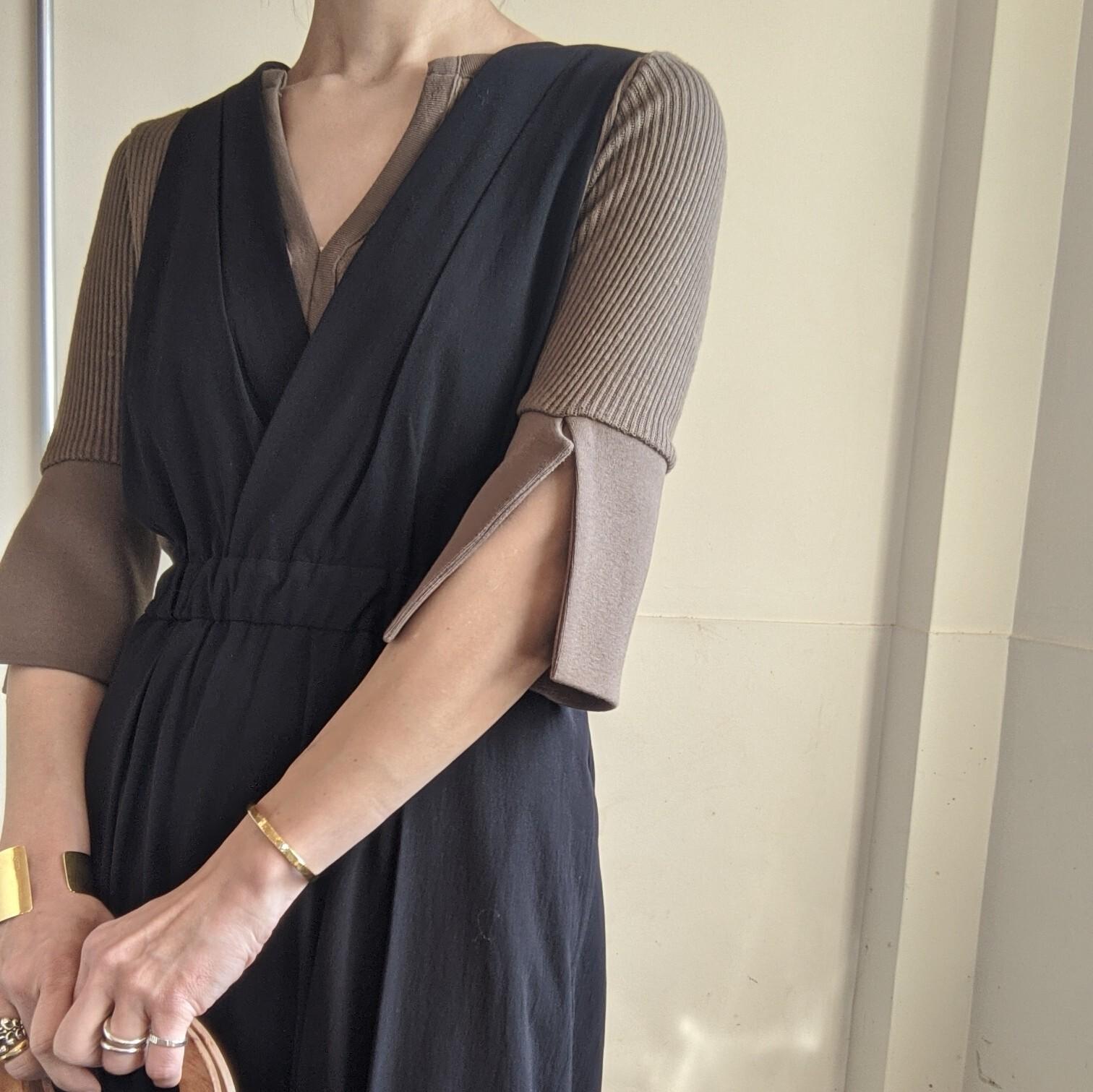 【 OTOÄA 】オトア SALOPETTE SKIRT / サロペットスカート BLACK
