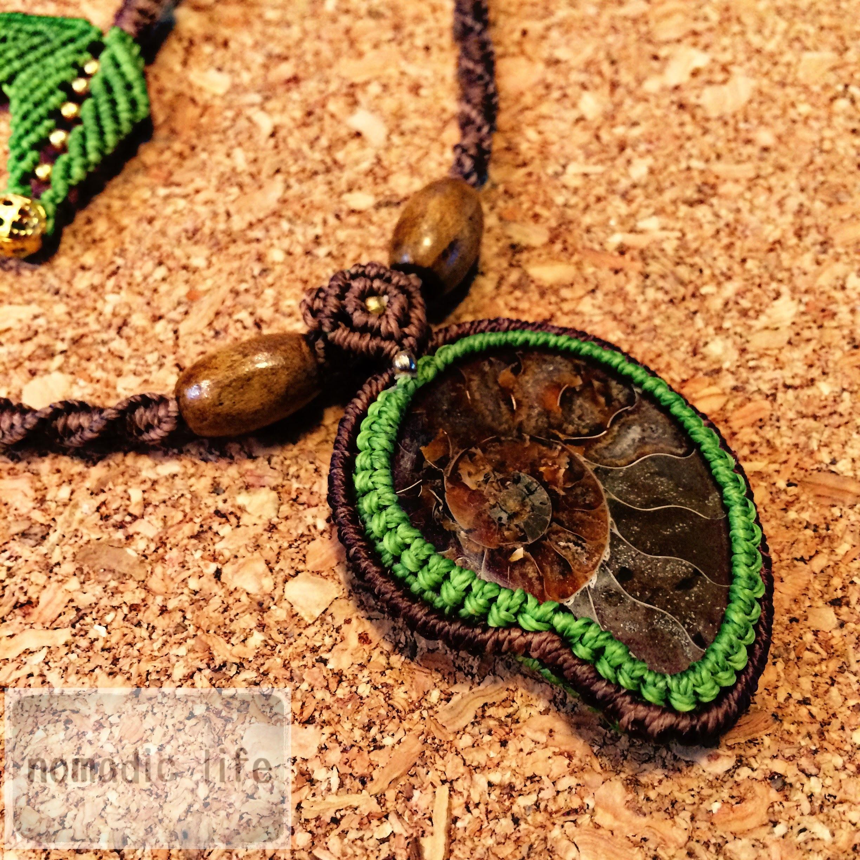 Ammonite Necklace//No.100