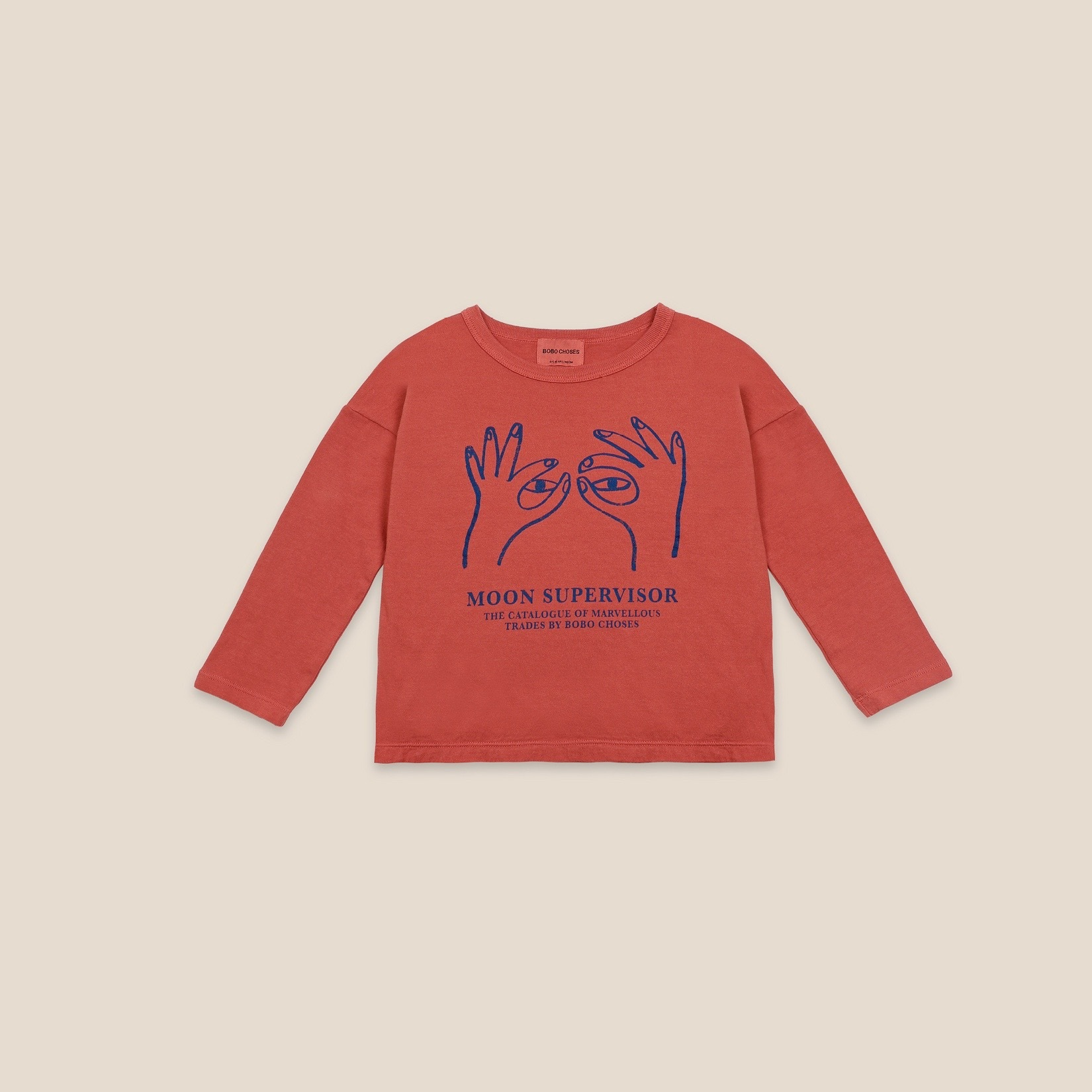 《BOBO CHOSES 2020AW》Moon Supervisor long sleeve T-shirt / 2-9Y