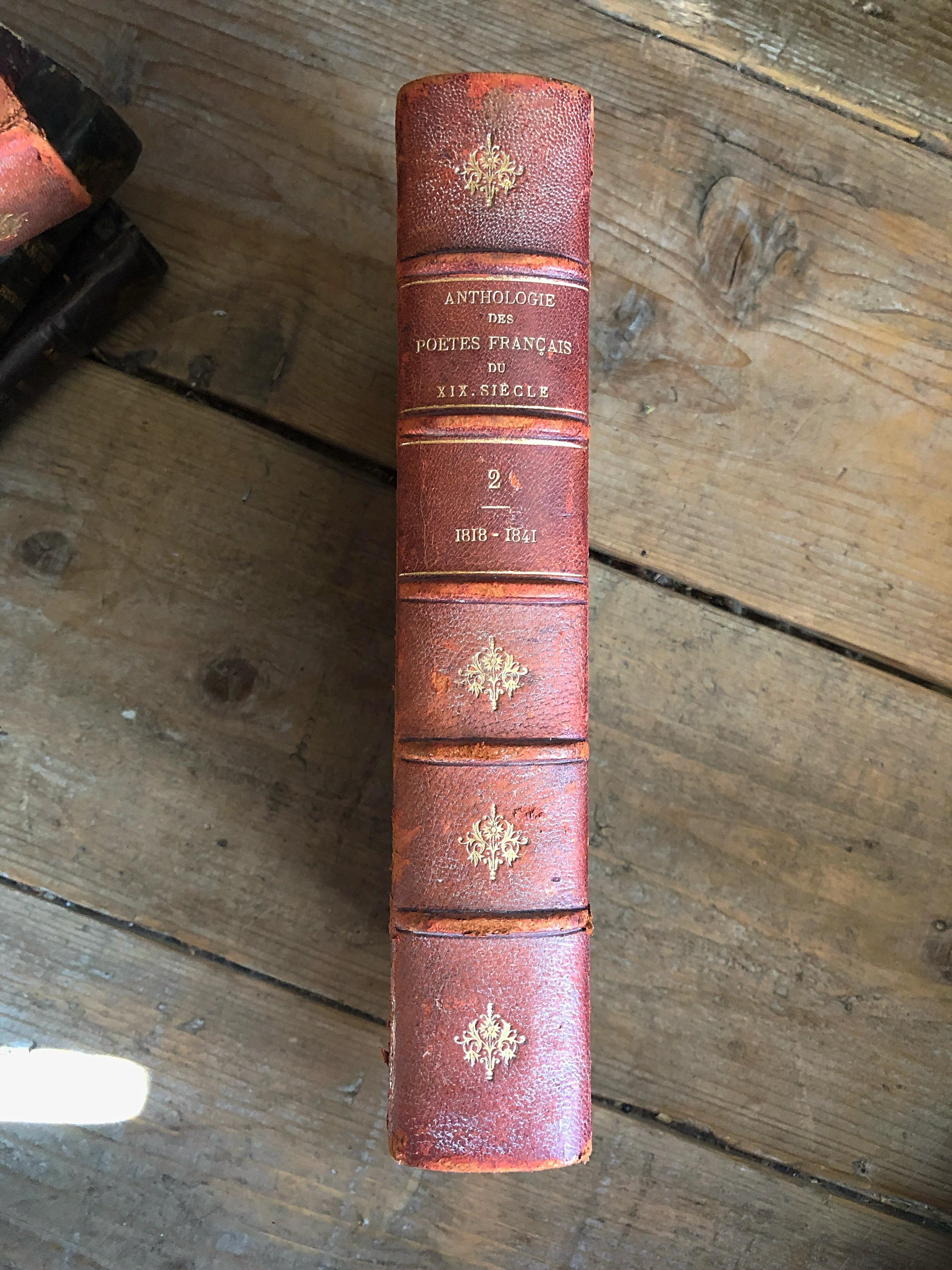 フランスアンティーク古書 古本 19世紀 詩集 no.2