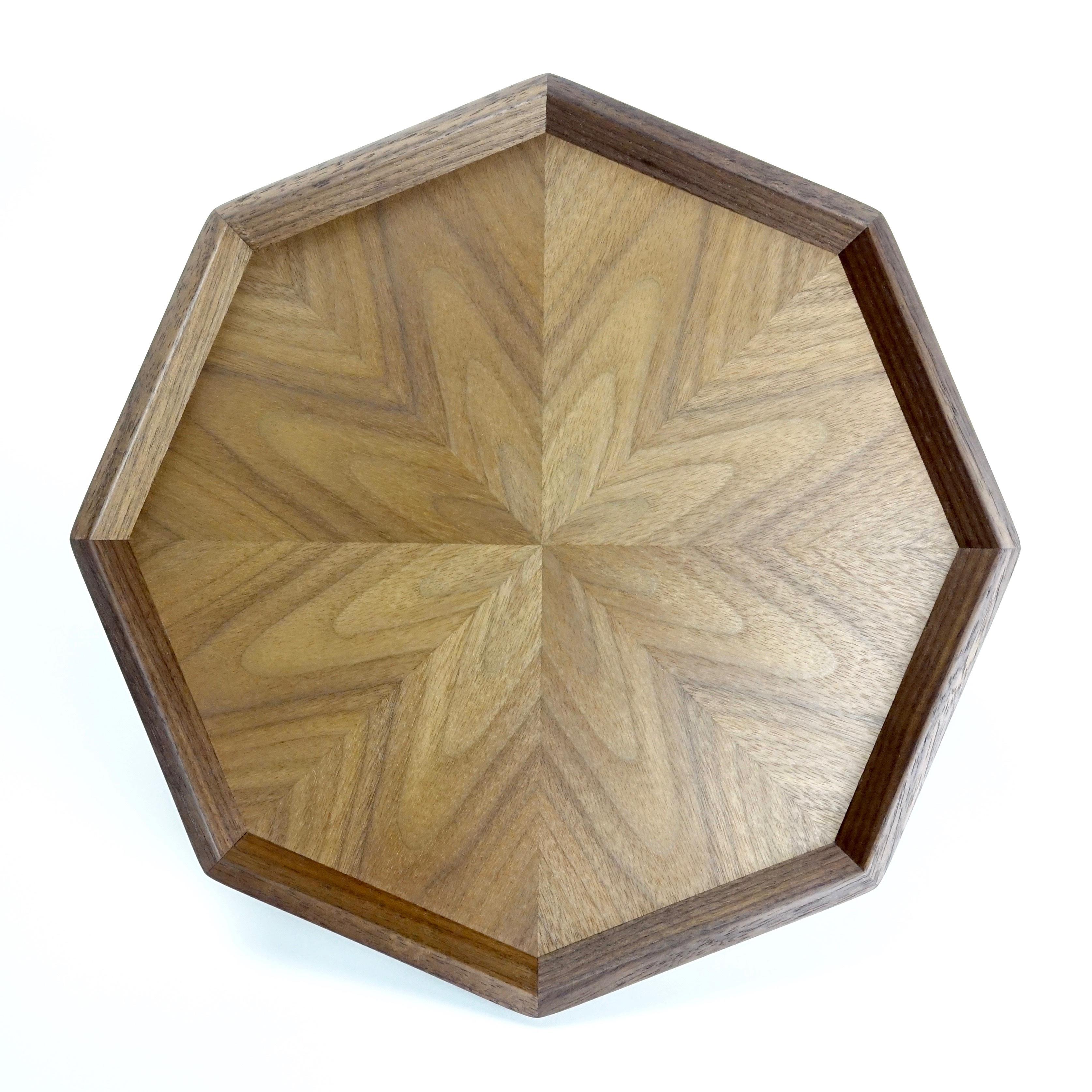 Black Walnut 八角形のトレー OBWT-0159
