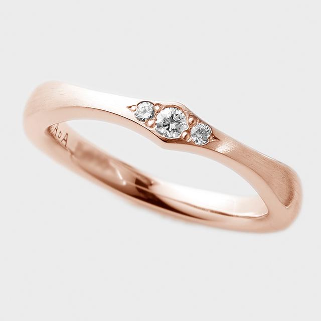 PORTADA BABY RING AIRE(LADY'S MODEL)K18PG( ポルターダ ベビーリング アイレ レディースモデル K18ピンクゴールド ダイヤモンド)
