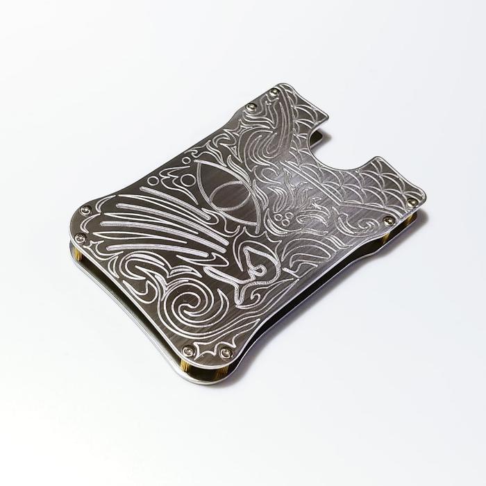 【猫名刺入れ・カードケース】 ジュラルミン製 / プレゼントにもおしゃれ