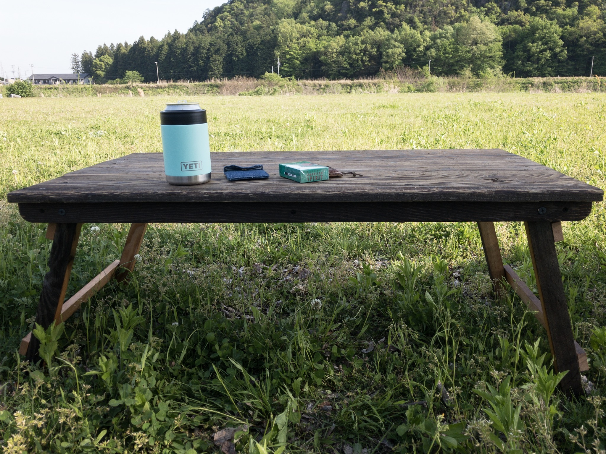 USED足場板×ダグラスファー古材折りたたみテーブル
