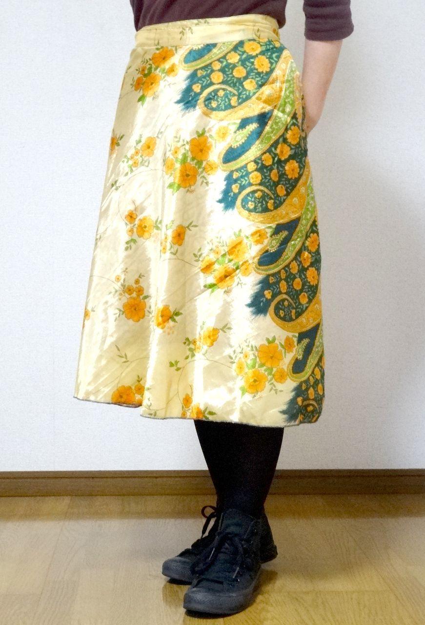 dss-019【新価格】 シルクサリー巻きスカートショート