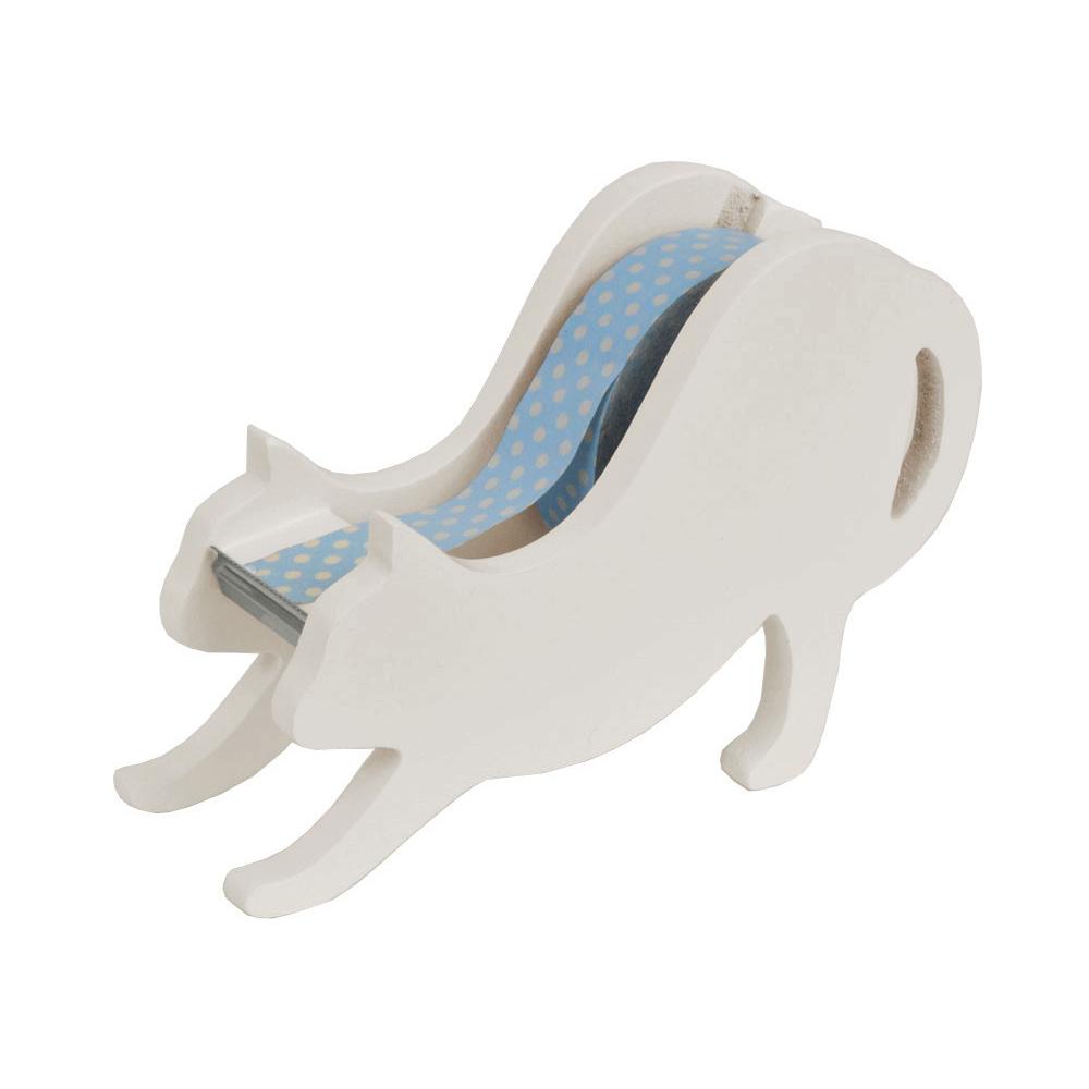 猫テープカッター(白猫テープディスペンサー)のびねこ