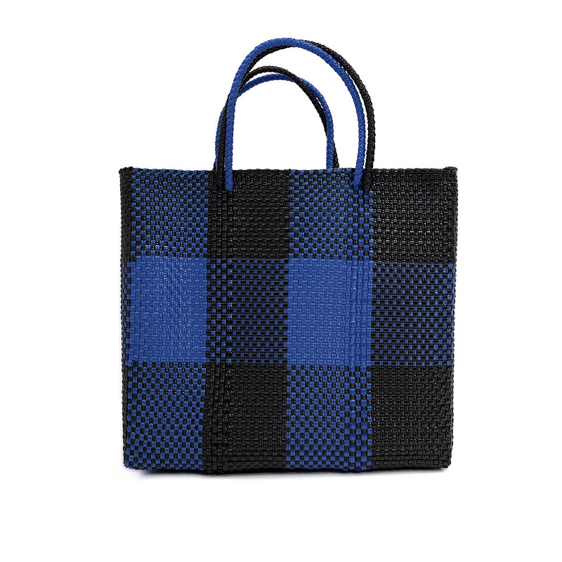 MERCADO BAG TABLERO- NAVY x Black (M)