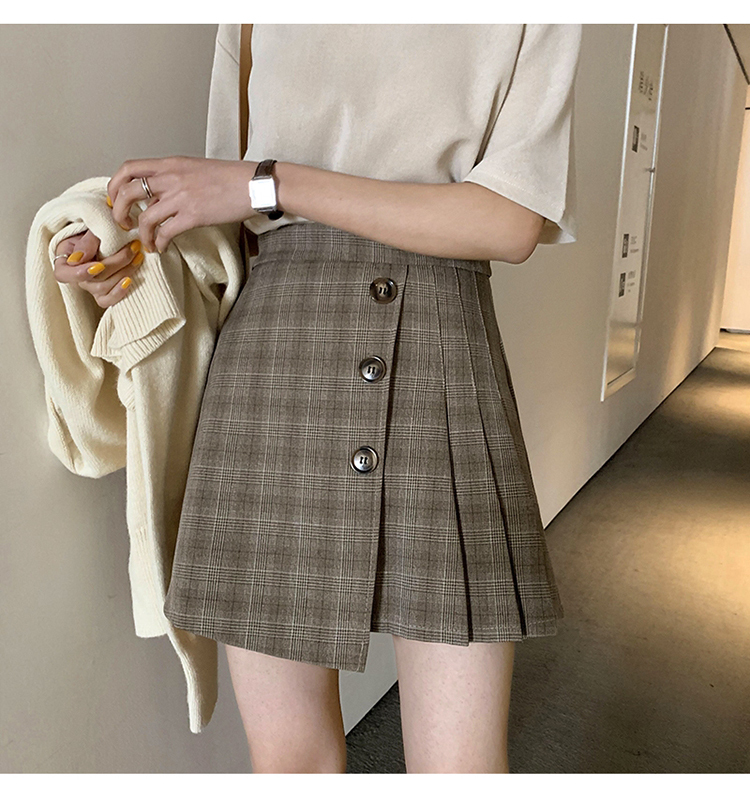 【送料無料】グレンチェック ミニスカート B19040401