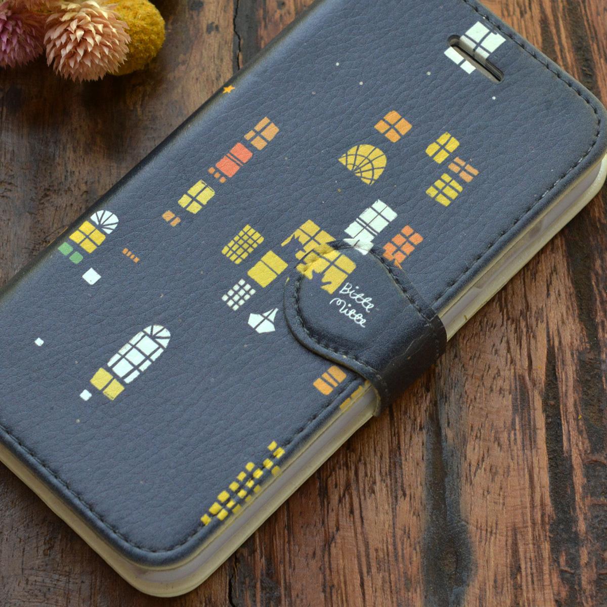 【訳あり】スマホケース iphone8 手帳型 おしゃれ iphone8 カバー ケース 手帳型 iphone7 ケース おしゃれ 手帳 夜のおはなし/Bitte Mitte!【bm-iph8t-08024-B1】