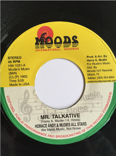 Horace Andy(ホレスアンディ) - Mr. Talkative【7'】
