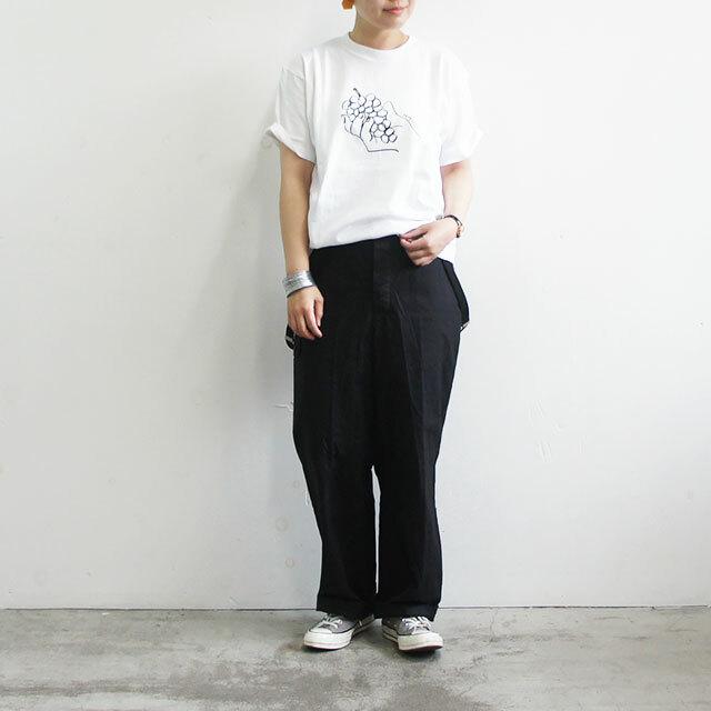HARVESTY ハーベスティ GRAPESプリントTシャツ 正規取扱店 レディース Tシャツ ゆったり グレープ ぶどう イワサトミキ 通販 (品番a51906)