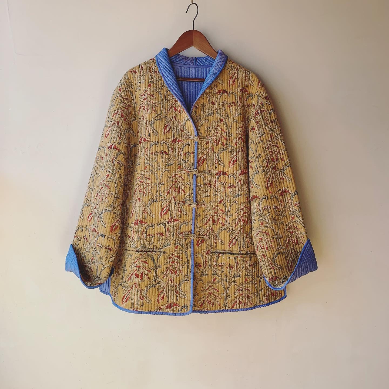 vintage reverseble quilting design jacket