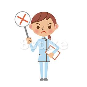 イラスト素材:介護士の不正解・NGイメージ(ベクター・JPG)
