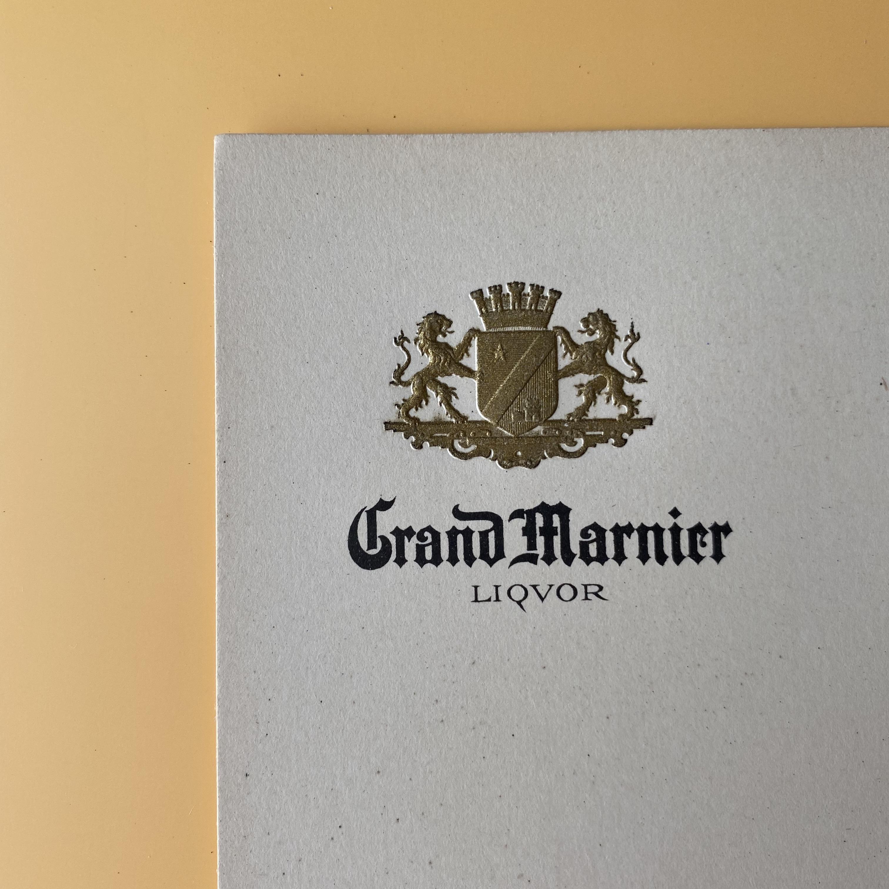 メニューシート(Grand Marnier / L)/ vp0071