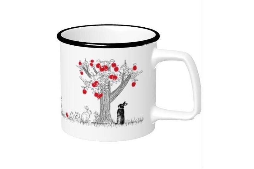 lulu STORE りんごの木とうさぎのマグカップ