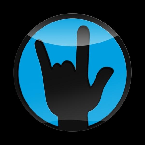ゴーバッジ(3D)(LC0056 - 3D ROCKON-BLUE) - 画像1