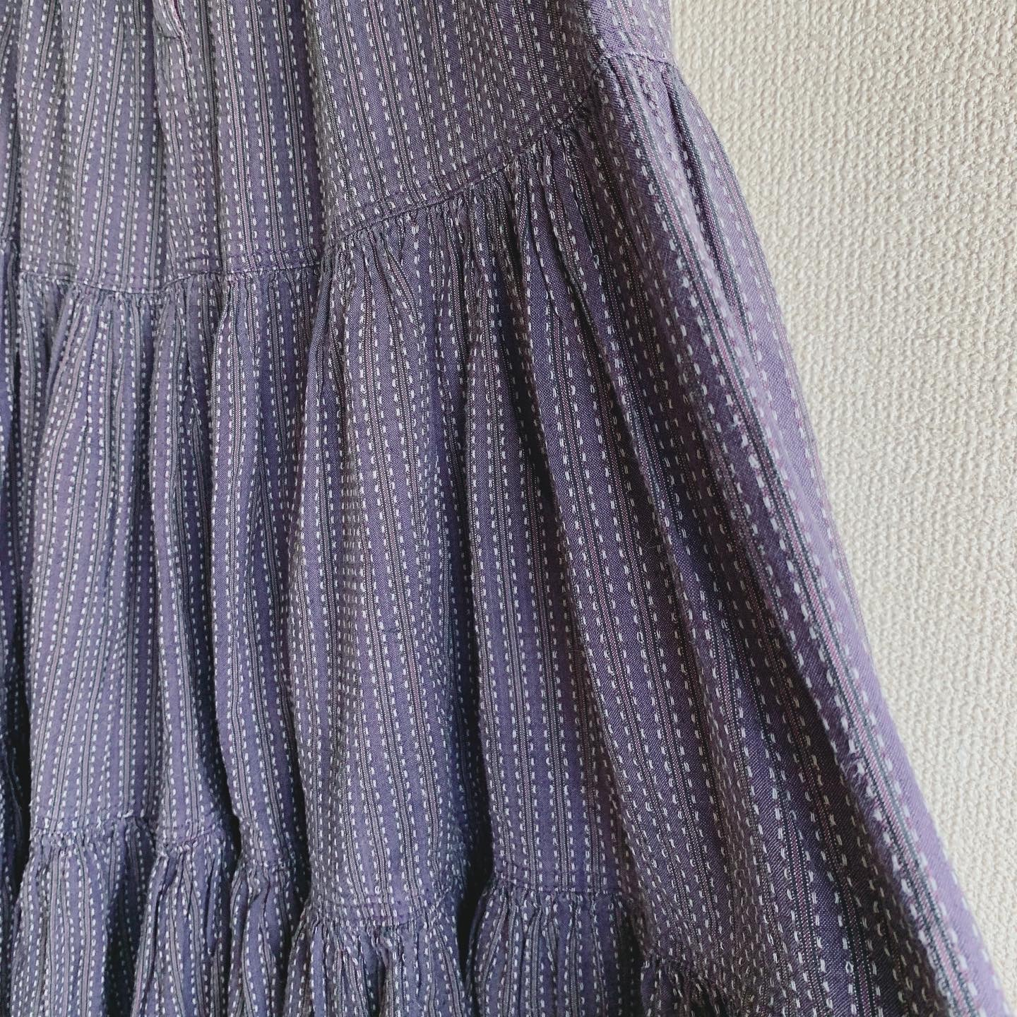 【SALE】vintage stitch design skirt