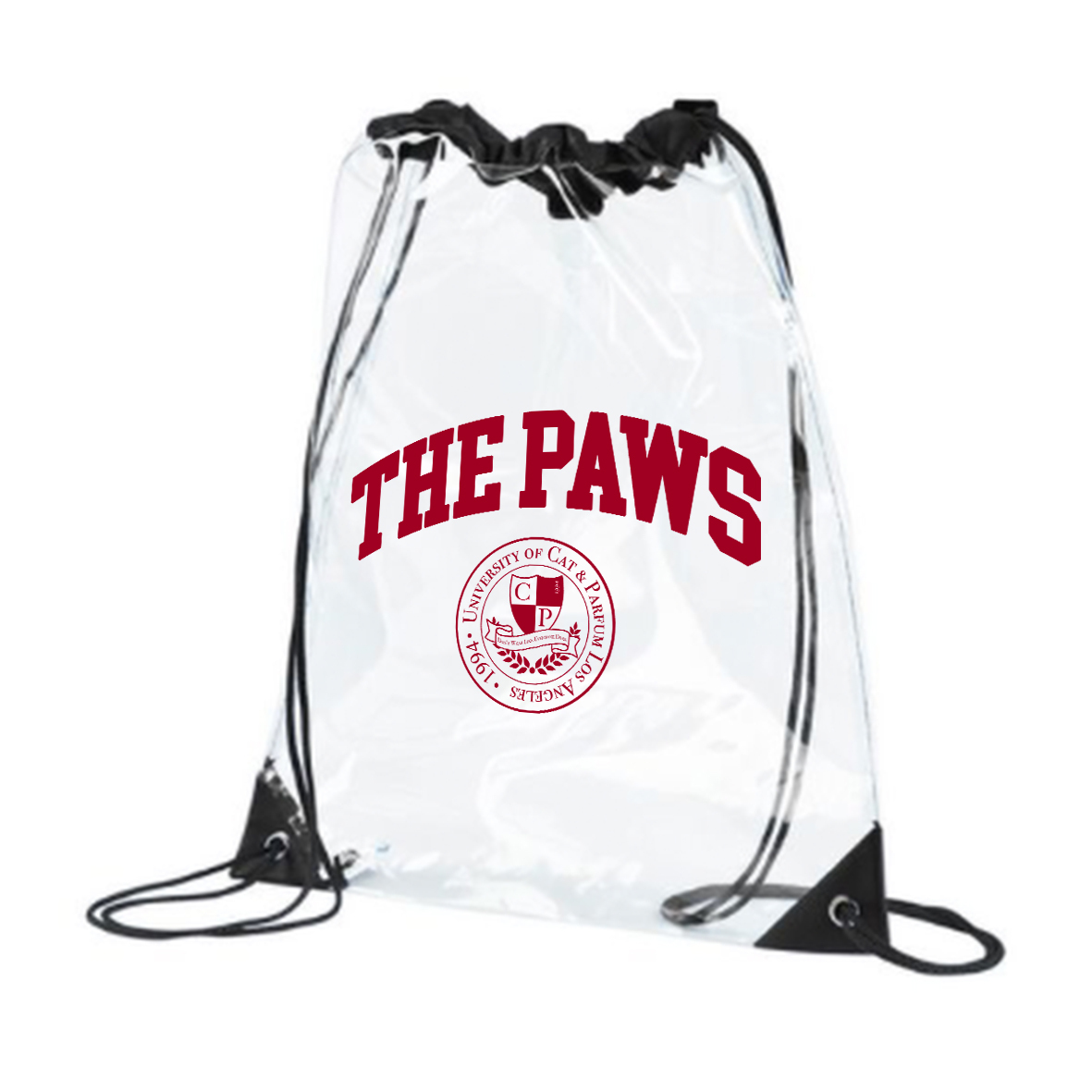 THE PAWS University PVC Backpack