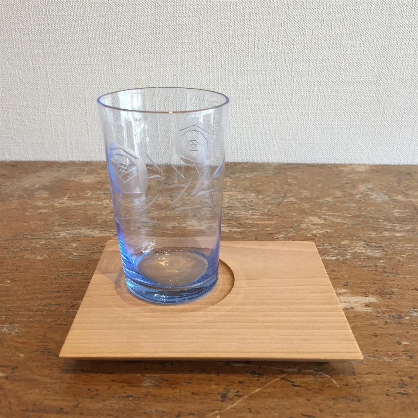 青い切子グラス