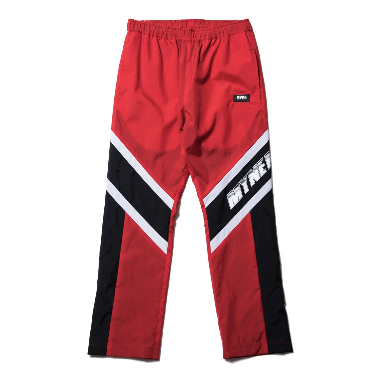 MYNE MOTORS nylon pants / RED - 画像1