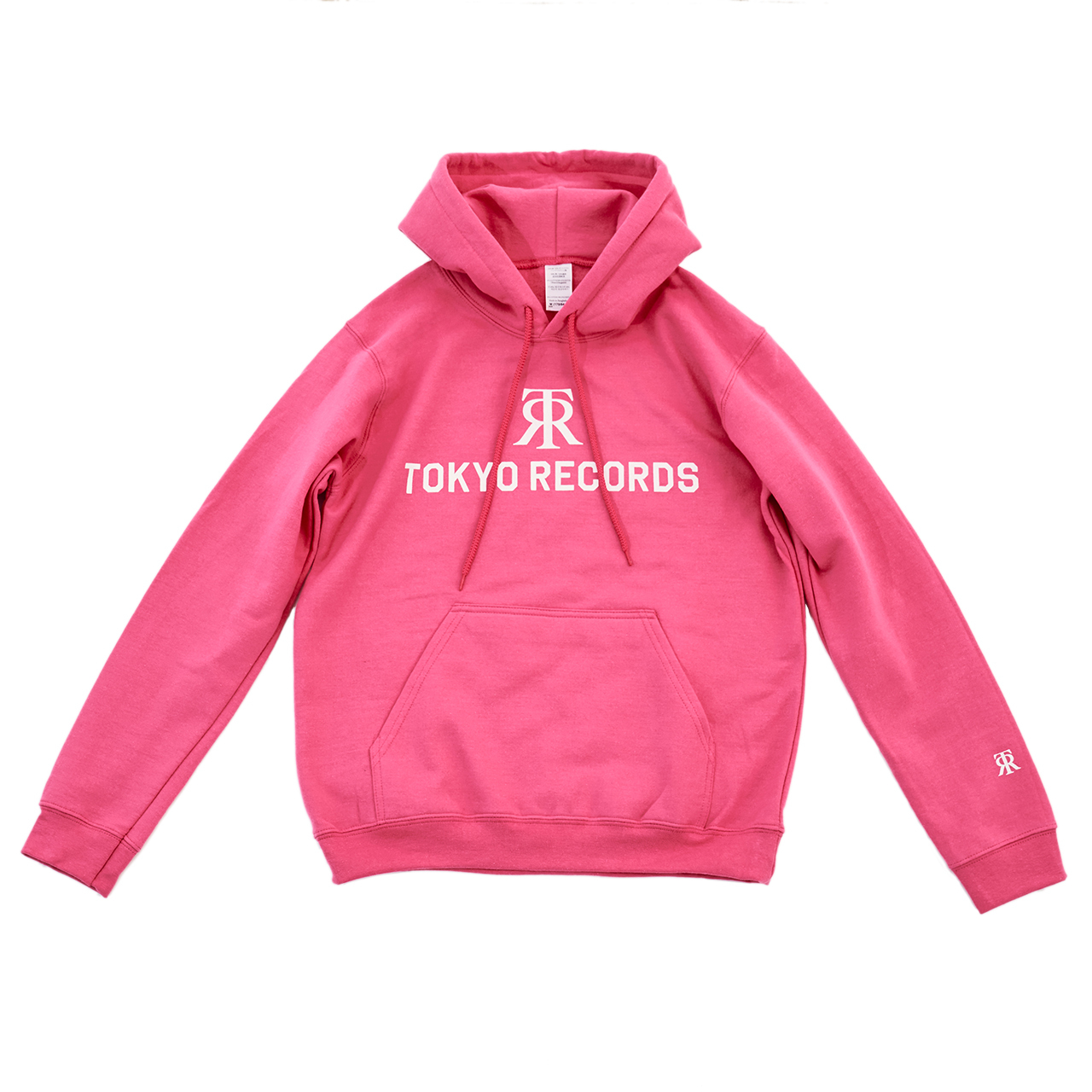 TOKYO RECORDS LOGO HOODIE(PINK × WHT)