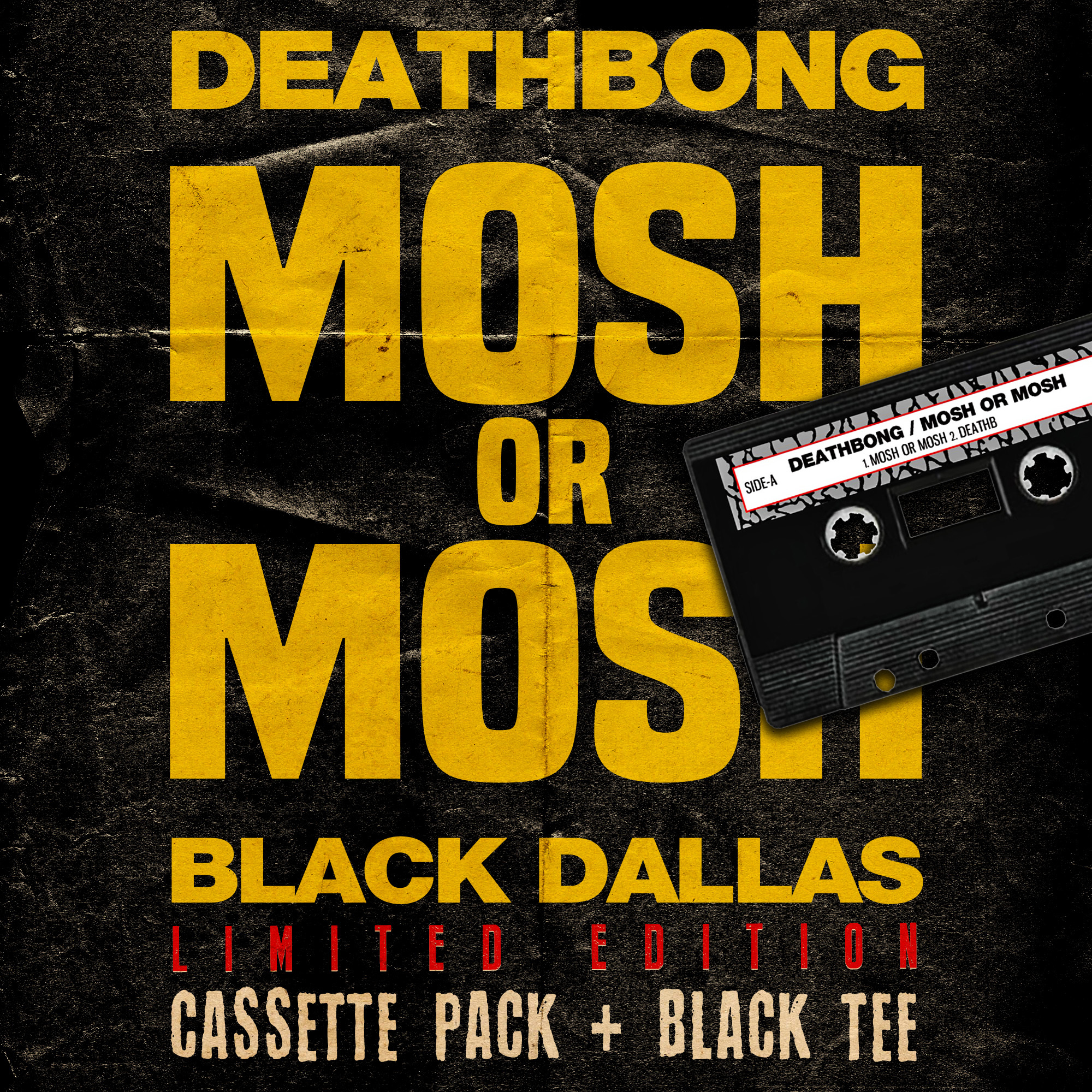 "DEATHBONG CASSETTE PACK ""BLACK DALLAS Limited Edtion"""