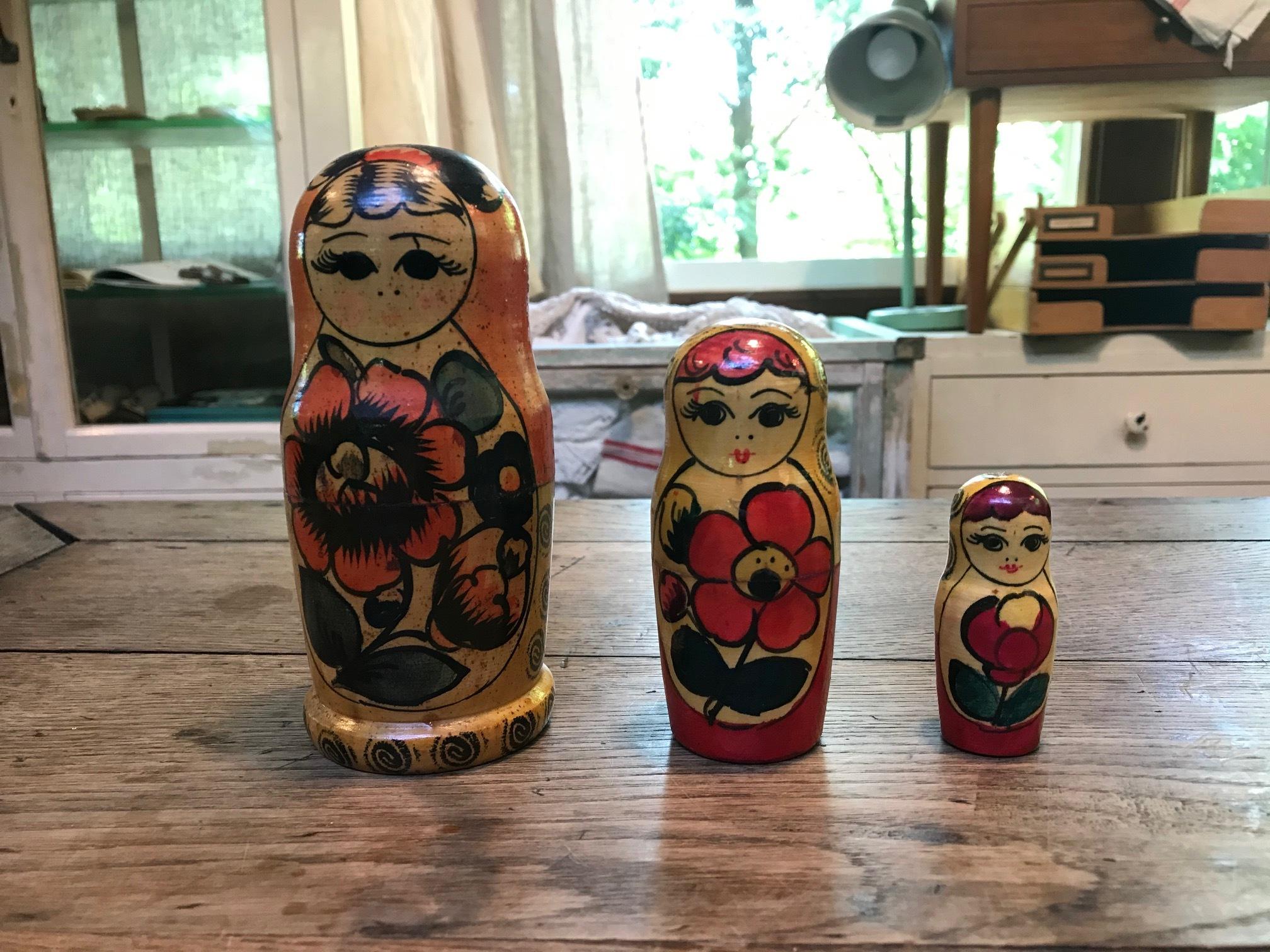 ロシア民芸 ヴィンテージ マトリョーシカ 人形 B