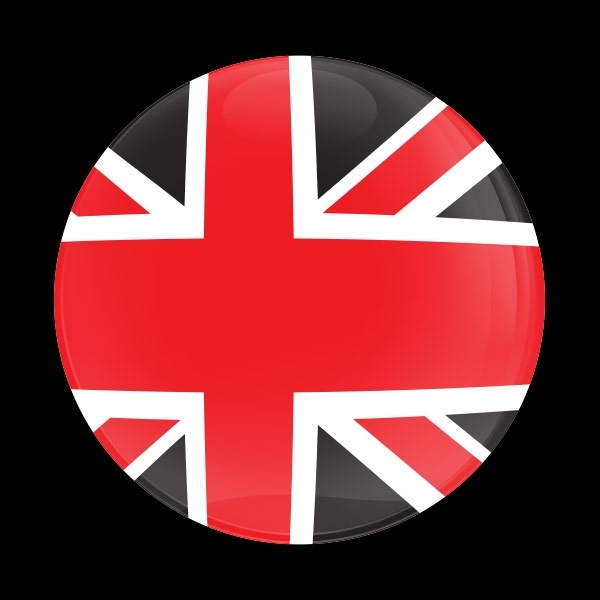 ゴーバッジ(ドーム)(CD0881 - FLAG UK RED JACK) - 画像1