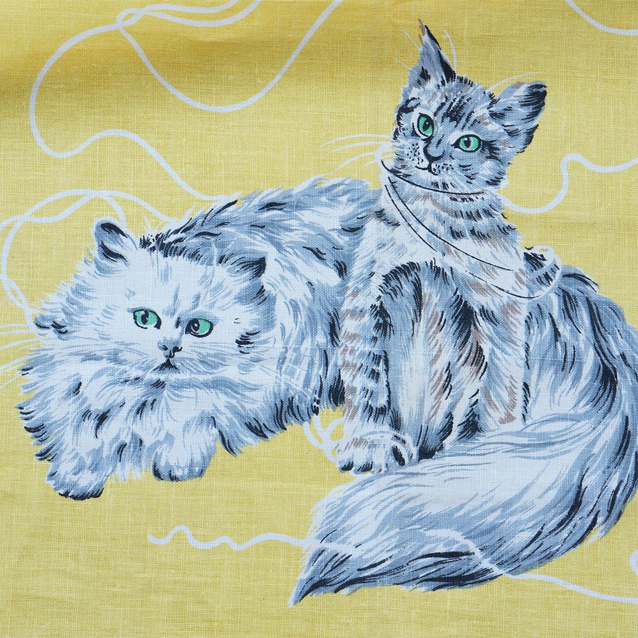 猫のteaタオル(yellow)