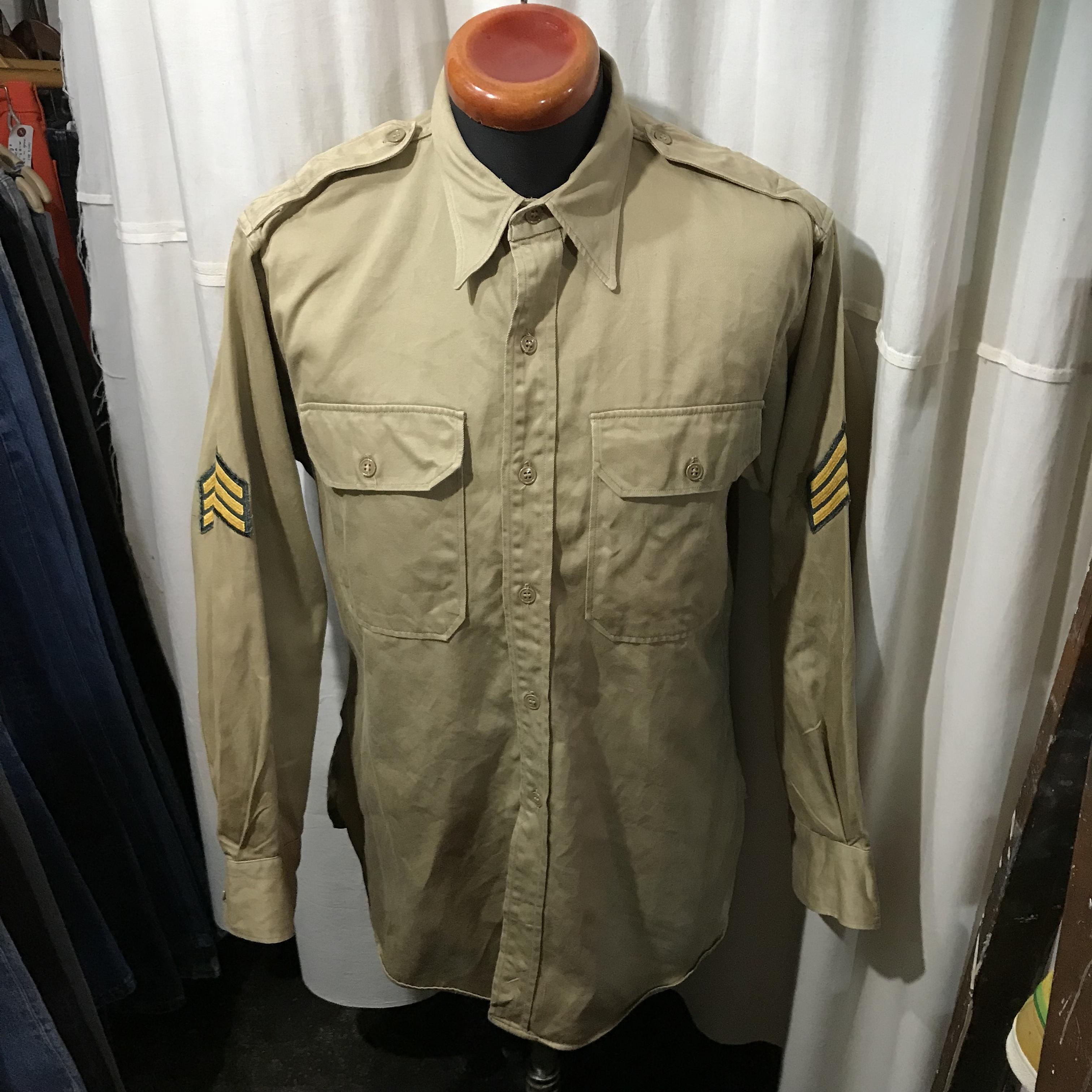 ~60's vintage USAF アメリカ空軍 マチ付きシャツ メンズXL