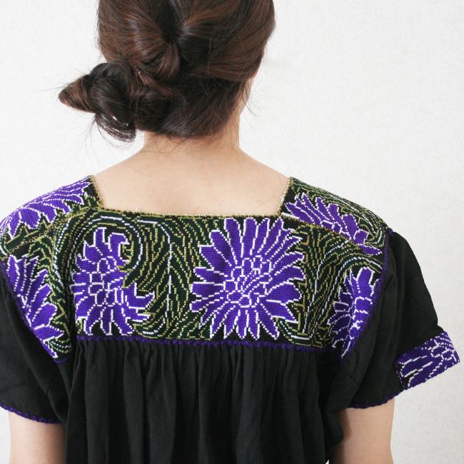 刺繍のロングワンピース /216b/  MEXICO メキシコ